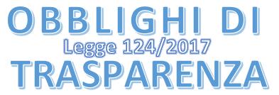 OBBLIGHI DI TRASPARENZA – LEGGE N. 124/2017