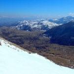 Salendo sul monte Motola dal versante sud