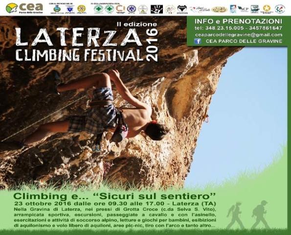 Laterza Climbing Festival 2016 - II Edizione